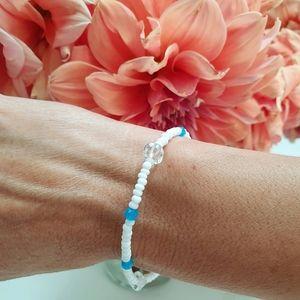 Beach Blue Beaded Bracelet